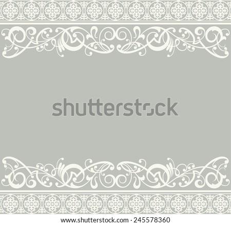 White ribbon lace vintage - stock photo