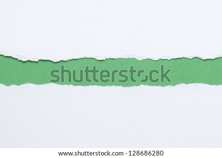 White ripped paper - stock photo