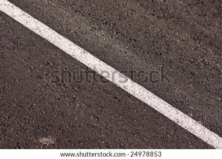 white road line - stock photo