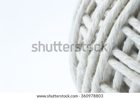 White rope with macro view
