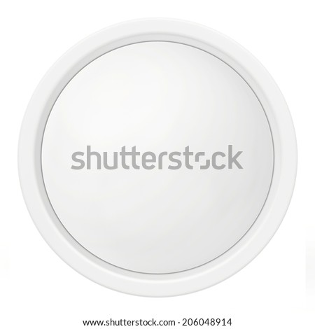 white round icon in the form of buttons. - stock photo
