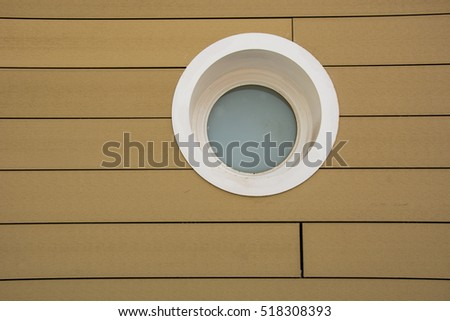 White round window
