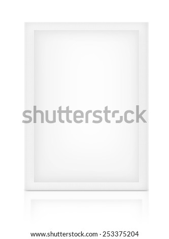 White Sachet packaging for mock up container - stock photo
