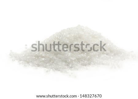 White salt granulated - stock photo