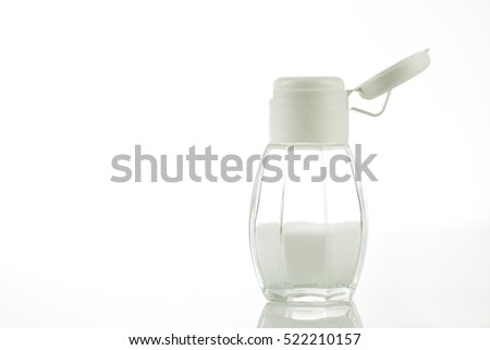 White salt shaker - open cap
