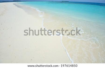 White sand beach - stock photo