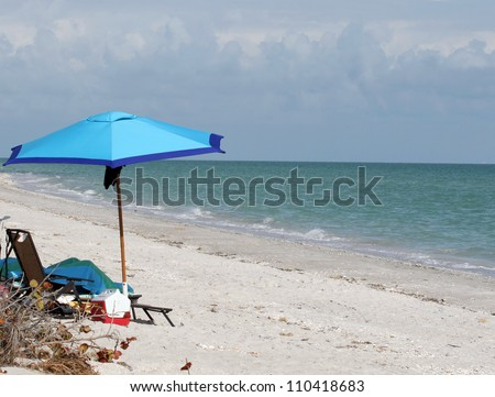 White Sand Beach on the Gulf Coast of Sanibel Island Florida