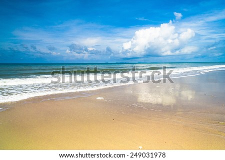 White Sand Divine Coastline  - stock photo