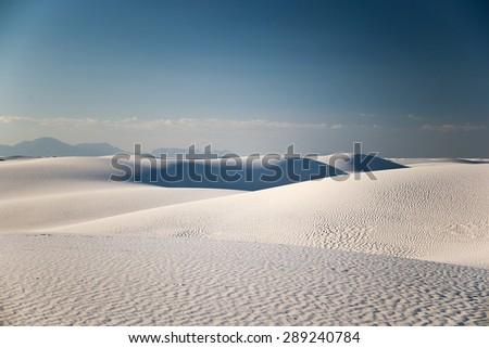 White Sands Desertin New Mexico, USA - stock photo