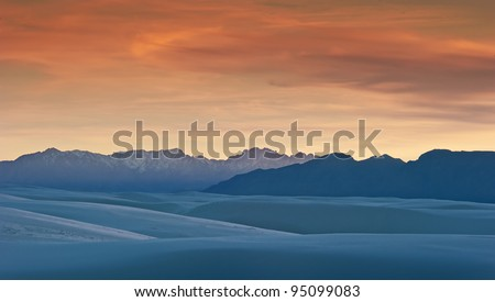 White Sands National Monument at Sunset