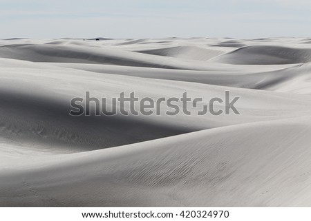 white sands national monument in new mexico - stock photo