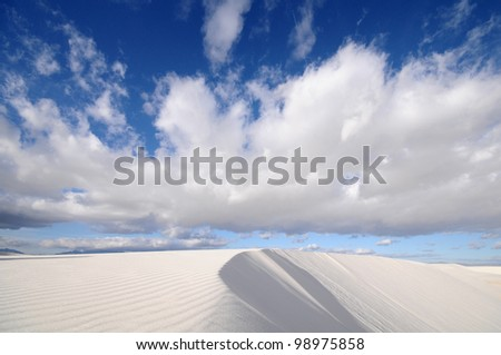 White Sands National Monument in New Mexico, USA - stock photo