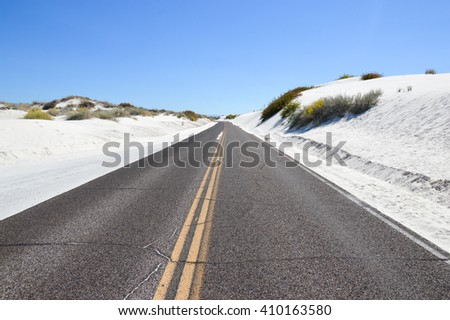 White Sands National Monument New Mexico desert West of Alamogordo, - stock photo