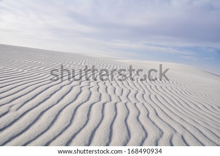 White Sands National Monument, New Mexico (USA) - stock photo