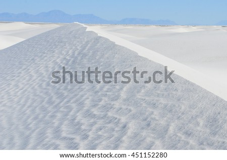 White Sands National Monument, New Mexico, USA - stock photo