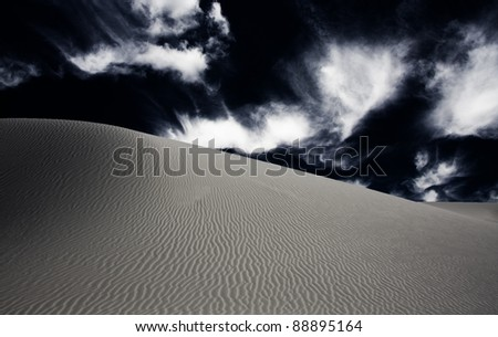 White Sands New Mexico Dune - stock photo