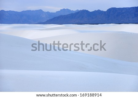 White Sands of New Mexico - stock photo