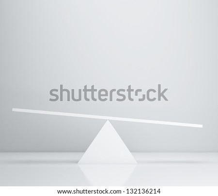 white scales in room, 3d render - stock photo