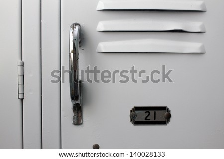white school lockers