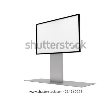 White screen - stock photo