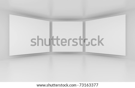 White Screens - stock photo
