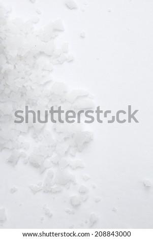 white sea salt - stock photo