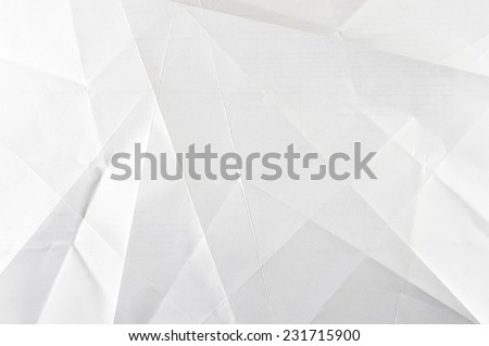 White shaded folded paper abstract - stock photo