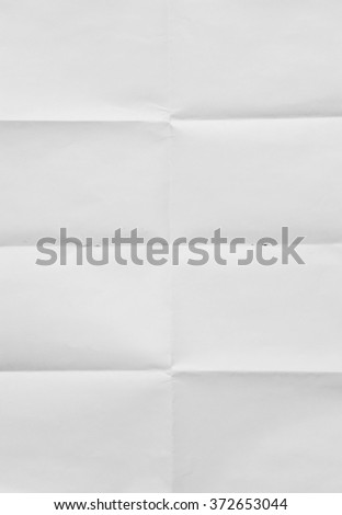 White sheet of paper folded texture - stock photo