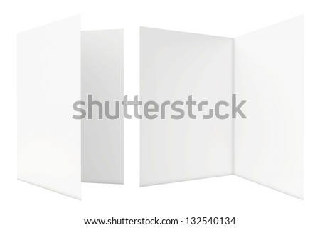 white sheets of paper on a white background - stock photo
