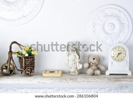White shelf - stock photo
