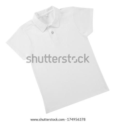 White shirt isolated. - stock photo