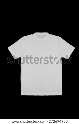 White shirt on black background - stock photo