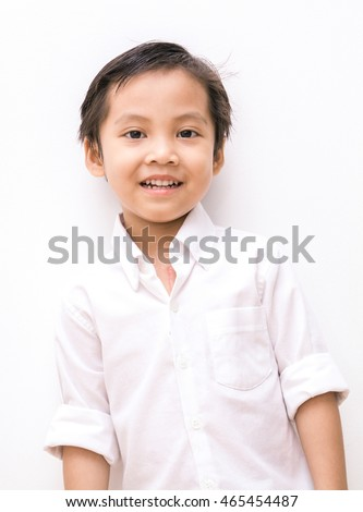 white shirt on little 
