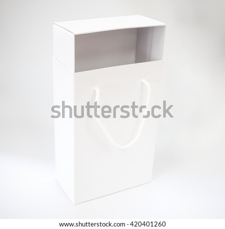 white shoebox on white background