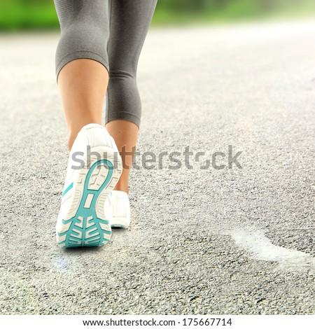 white shoes  - stock photo