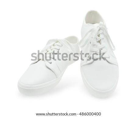 White shoes on white background with clipping path.