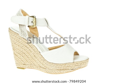 White shoes, Weave High-heel for Women