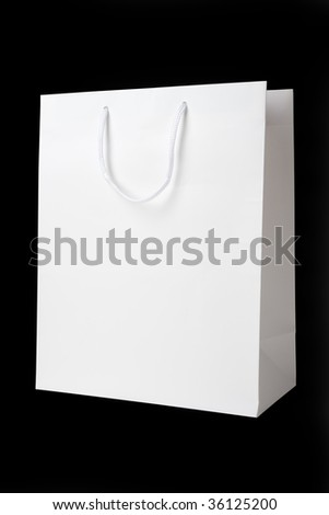 White Shopping Bag close up shot