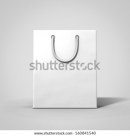 white shopping paper bag empty