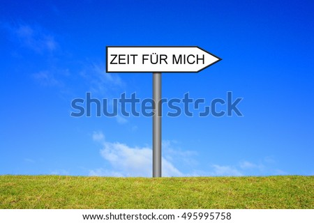 White signpost is showing time for me in german language