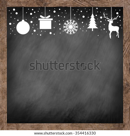 white silhouette hand draw symbolic xmas on glowing golden color tone background for banner,design,decorate:merry Christmas festival and new year wallpaper concept.reindeer,tree,snowflakes,gift,ball - stock photo