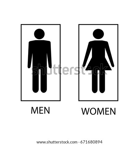 Bathroom Sign Man And Woman restroom stock images, royalty-free images & vectors | shutterstock