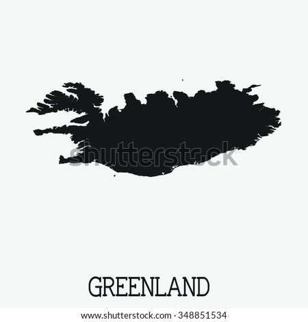 White Silhouette of the Country Greenland