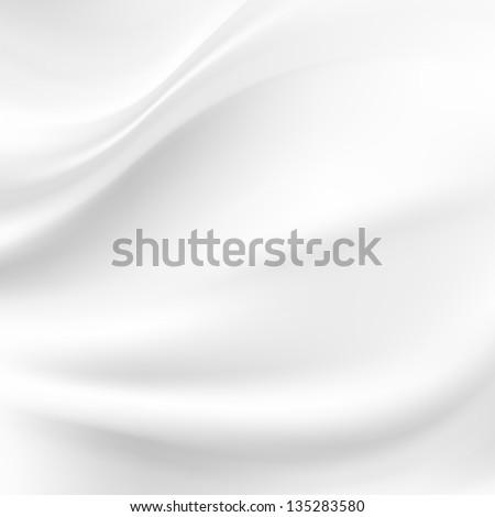 White Silk Background - stock photo