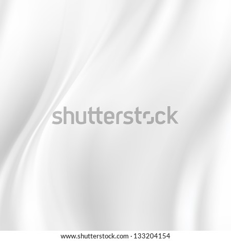 White Silk Fabric for Drapery Backgrounds - stock photo