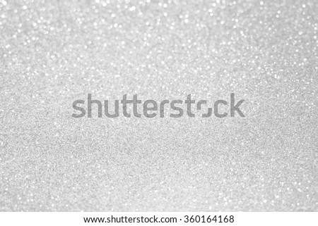 white silver glitter bokeh texture christmas abstract background - stock photo