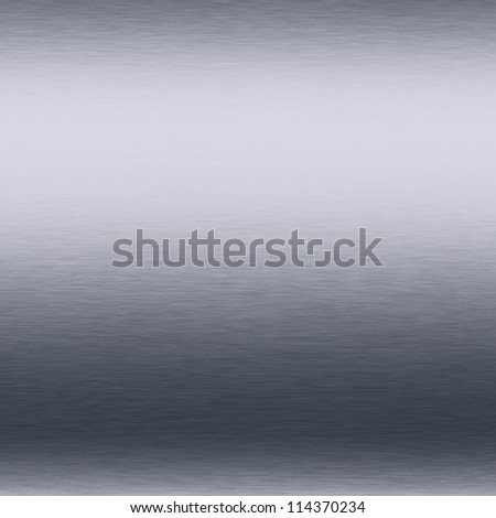 white silver metal background brushed shiny chrome plate texture - stock photo