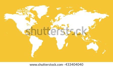 White similar world map blank infographic stock illustration white similar world map blank for infographic isolated on yellow background gumiabroncs Image collections