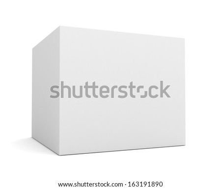 white single product box  - stock photo