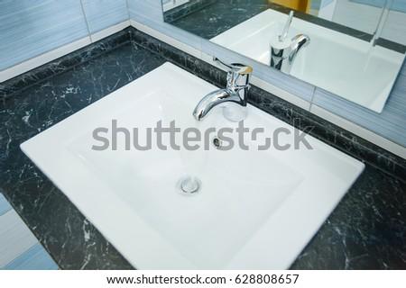 White Sink.Bathroom Sink.Washstand.Wash Basin.Basin.Elegant Washbasin